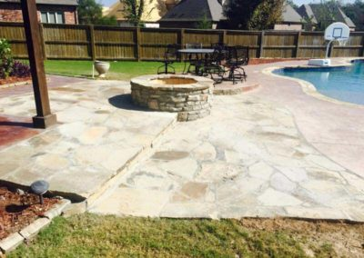 Natural Stone Patio & Fire Pit