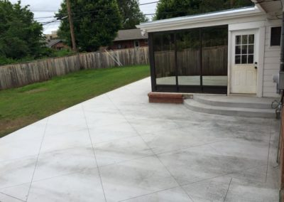 Concrete Patio Before Staining