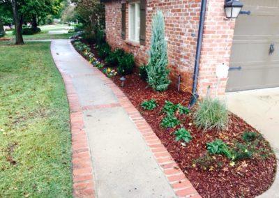 Brick Paver Concrete Walkway