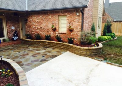 Paver Courtyard House Entry