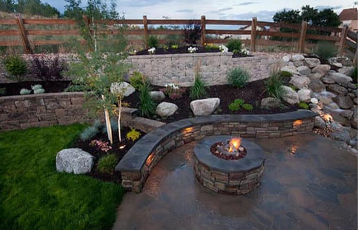 Build a Fire Pit Rock Benches