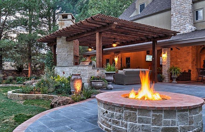 Build a Fire Pit & Pergola