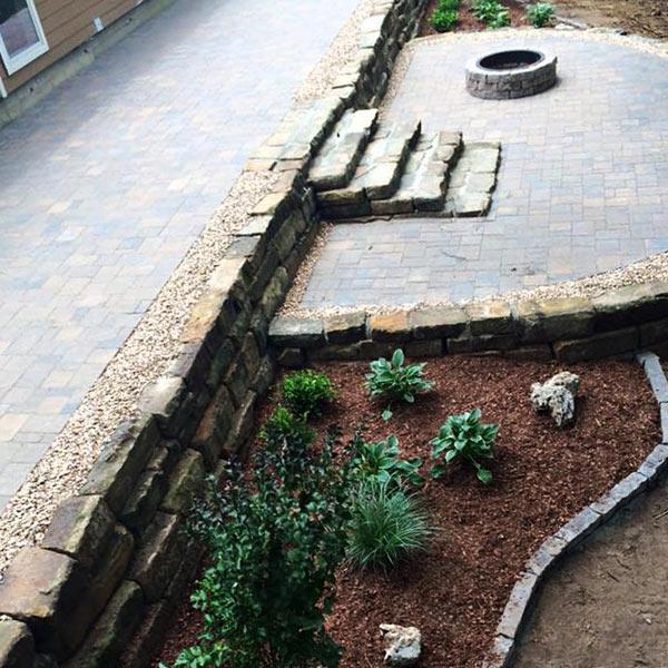 Backyard Patio Pavers & Steps